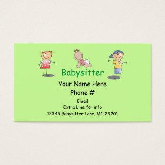 Le bâton de bande dessinée de bonne d'enfants de cartes de visite