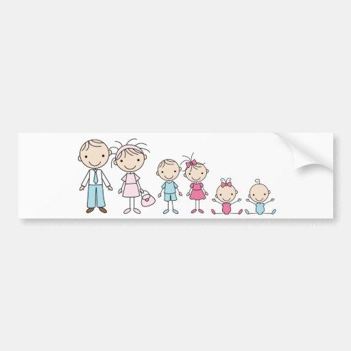 Le bâton de famille figure des adhésifs pour pare- autocollants pour voiture