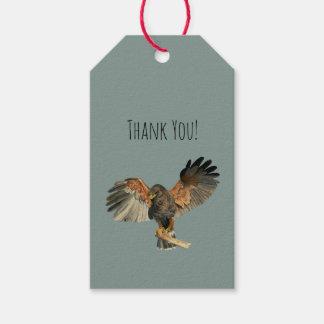 Le battement de faucon s'envole la peinture étiquettes-cadeau