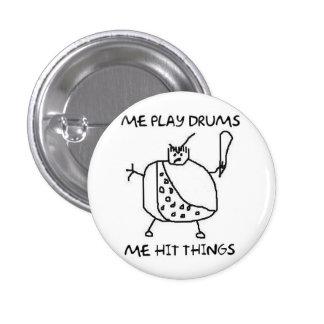 Le batteur drôle je jeu bat du tambour des boutons pin's