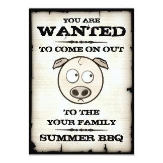 Le BBQ d'été a voulu des invitations