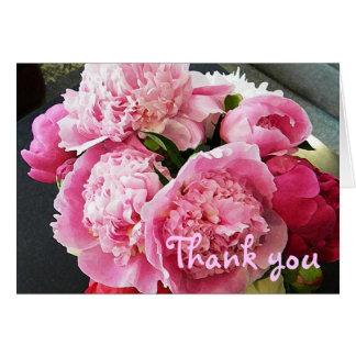 Le BD carte de remerciements floral de pivoine