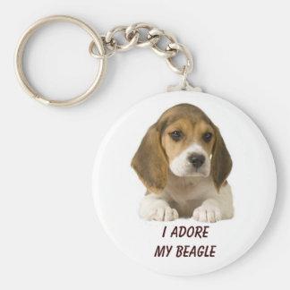 Le beagle adorent le porte - clé porte-clés