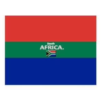 Le beau drapeau de l'Afrique du Sud colore la Carte Postale