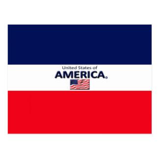 Le beau drapeau de l'Amérique colore la carte Carte Postale