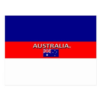 Le beau drapeau de l'Australie colore la carte Cartes Postales