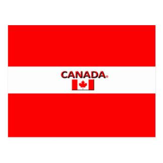Le beau drapeau du Canada colore la carte postale