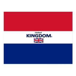 Le beau drapeau du Royaume-Uni colore la carte Carte Postale