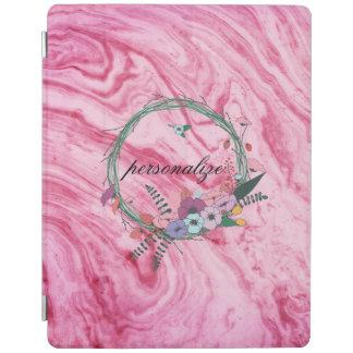 le beau motif de marbre rose de texture protection iPad
