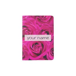 le beau rose élégant fleurit la photo de roses de protège-passeports