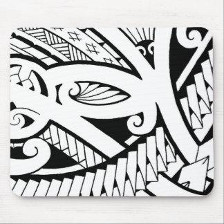 le beau tatouage d'île conçoit l'art noir moderne tapis de souris