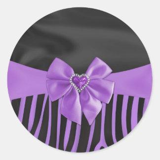 Le beau tissu en soie élégant chic effectue le sticker rond