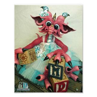 Le bébé 2015 de DM bloque le PhotoPrint du dragon Photos D'art