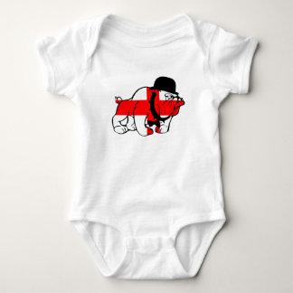 Le bébé anglais de drapeau de bouledogue anglais t-shirts