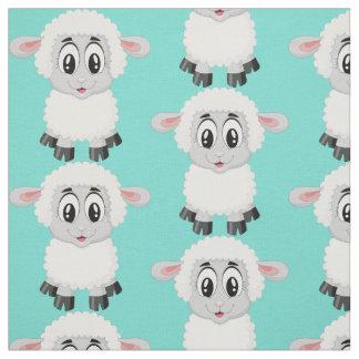 Le bébé animal de moutons mignons badine la crèche tissu