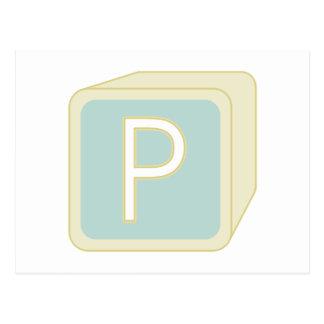 Le bébé bloque des initiales graphiques en bois carte postale