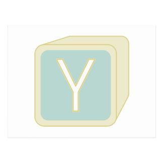 Le bébé bloque des initiales graphiques en bois cartes postales