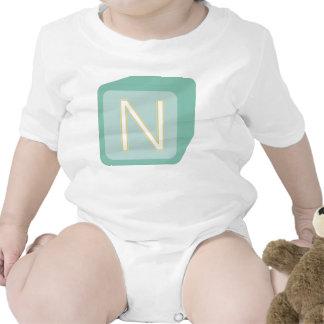 Le bébé bloque des initiales graphiques en bois body pour bébé