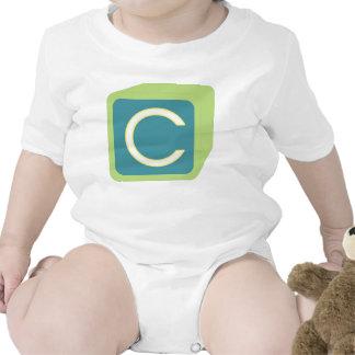 Le bébé bloque des initiales graphiques en bois bodies pour bébé