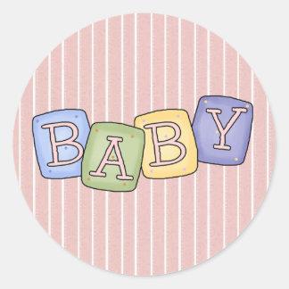 Le bébé bloque des joints de d autocollants d am
