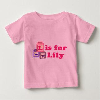 Le bébé bloque le lis t-shirt pour bébé
