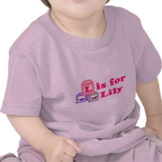 Le bébé bloque le lis t-shirts