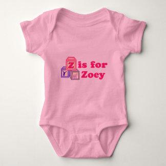 Le bébé bloque Zoey T-shirts