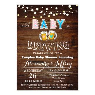 Le bébé brasse l'invitation de baby shower carton d'invitation  12,7 cm x 17,78 cm