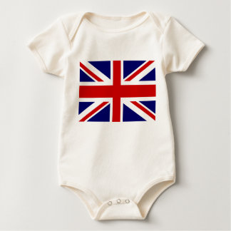 Le bébé britannique de drapeau vêtx la conception barboteuse