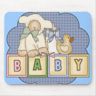 Le bébé d enfants bloque des T-shirts et badine de Tapis De Souris