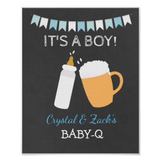 Le bébé de bière de BABY-Q brasse le signe 8x10 Posters