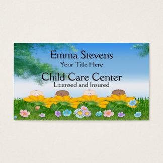 Le bébé de Childcare fleurit le modèle de carte de