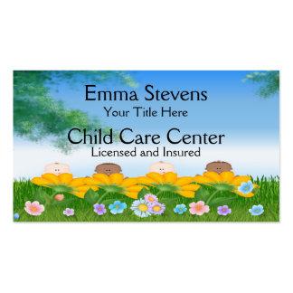 Le bébé de Childcare fleurit le modèle de carte de Carte De Visite Standard