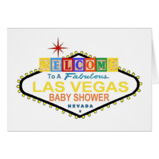 Le bébé de Las Vegas bloque la carte de baby showe