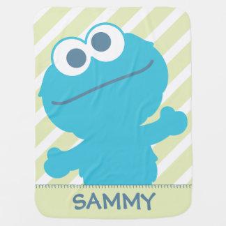 Le bébé de monstre de biscuit   ajoutent votre nom couverture pour bébé
