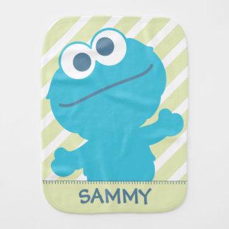 Le bébé de monstre de biscuit   ajoutent votre nom linge de bébé