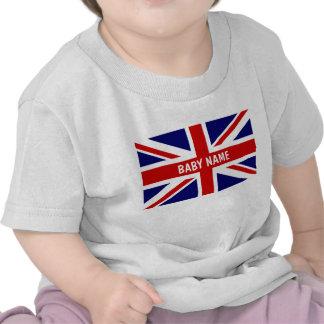 Le bébé d'Union Jack principal le drapeau de | Per T-shirts