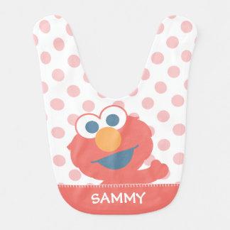 Le bébé Elmo   ajoutent votre nom Bavoir