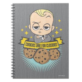 Le bébé et les biscuits du bébé | de patron sont carnet à spirale