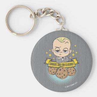 Le bébé et les biscuits du bébé | de patron sont porte-clé rond