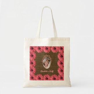 Le bébé floral de toile de jute | créent votre sac