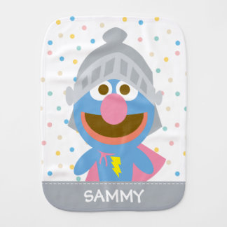 Le bébé Grover dans l'armure   ajoutent votre nom Linge De Bébé