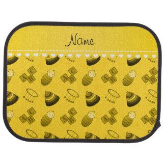 Le bébé jaune nommé personnalisé bloque les jouets tapis de sol