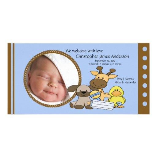 Le bébé joue le faire-part de naissance de PHOTO Photocartes