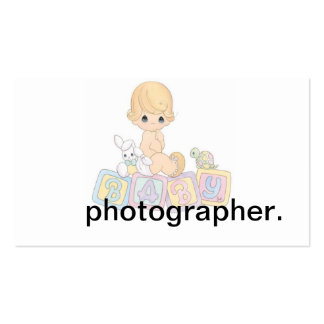 Le bébé mignon bloque la bande dessinée carte de visite standard