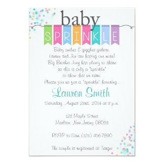 Le bébé neutre de genre arrosent des invitations