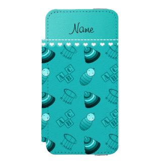 Le bébé nommé de turquoise bloque les jouets coque-portefeuille iPhone 5 incipio watson™