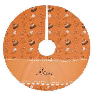 Le bébé orange nommé personnalisé bloque les jupon de sapin en polyester brossé