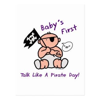 Le bébé parlent d abord comme un jour de pirate carte postale