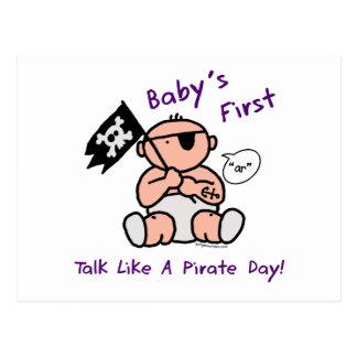 Le bébé parlent d'abord comme un jour de pirate cartes postales